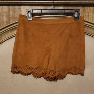 Brown Suade Shorts